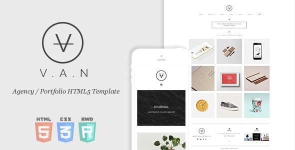 VAN - Minimal Agency / Portfolio HTML5 Template - Creative Site Templates