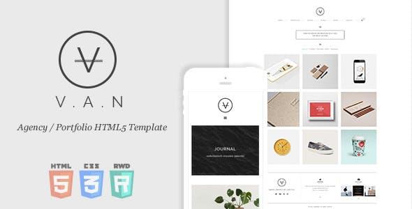 VAN - Minimal Agency / Portfolio HTML5 Template