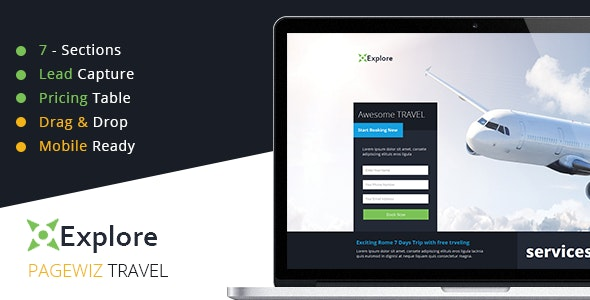Explore - Travel Pagewiz Template - Pagewiz Marketing