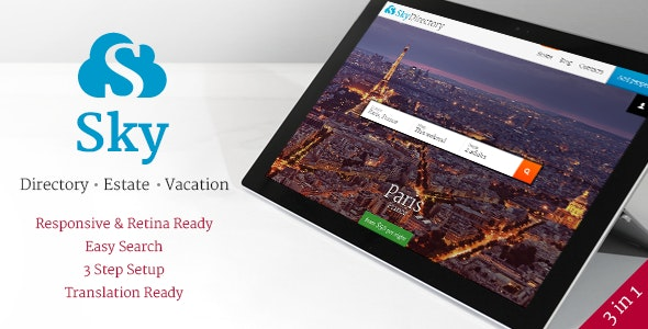 Sky - WordPress Listings Theme - Directory & Listings Corporate