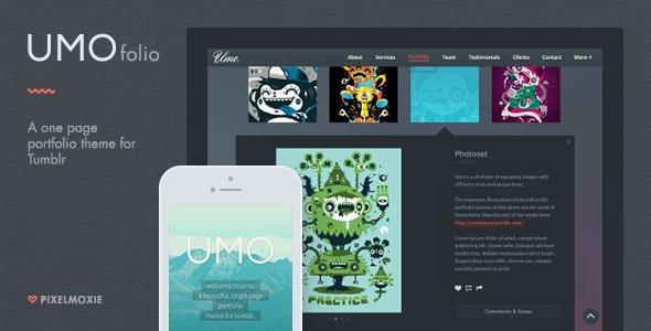 UMO Folio - A One Page Portfolio Theme For Tumblr by