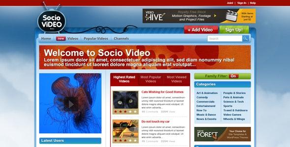 Socio Video Theme - Entertainment Photoshop
