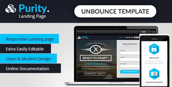 Purity - Unbounce App Landing Page - Unbounce Landing Pages Marketing