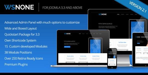 WS-None | Responsive & Clean Joomla Template