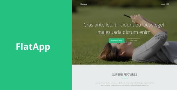 FlatApp | Flat App Landing Page - Technology Landing Pages