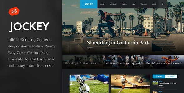 Jockey - Sports Magazine & News Theme - News / Editorial Blog / Magazine