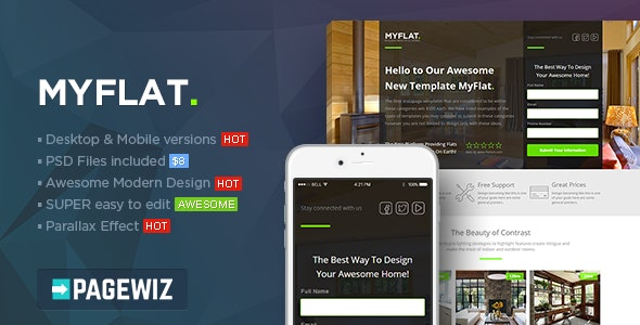 MYFLAT - Real Estate Pagewiz Template - Pagewiz Marketing