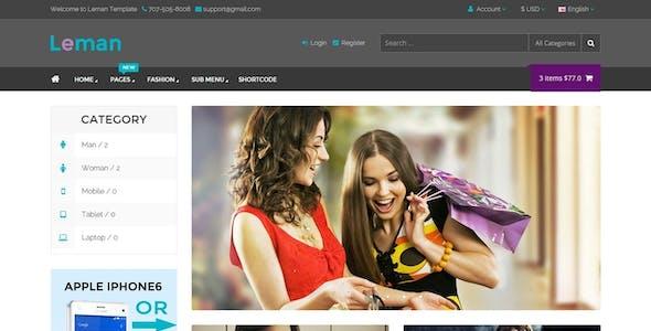 Leman - Responsive E-Commerce Template