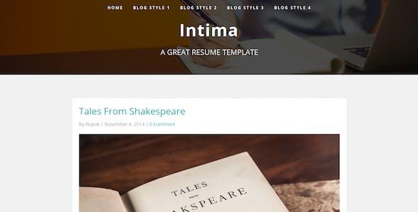 Intima - Resume & Portfolio WordPress Theme