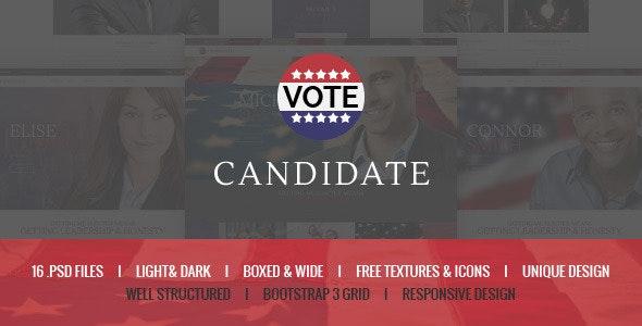 Candidate - Political PSD Template - Political Nonprofit