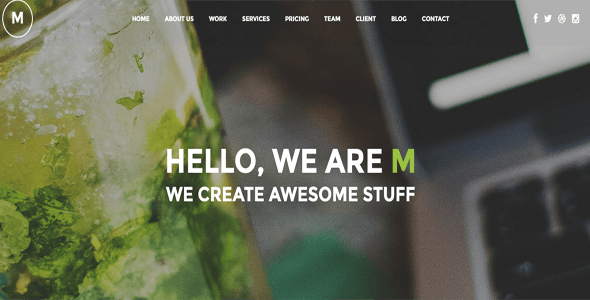 M - Creative Multi-Purpose One Page WordPress Theme - Creative WordPress