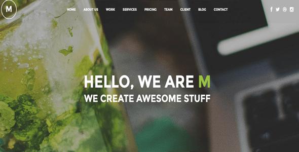 M - Creative Multi-Purpose One Page WordPress Theme
