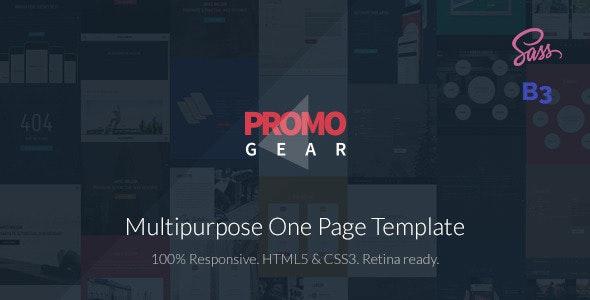 PromoGear — Multipurpose OnePage Template - Business Corporate