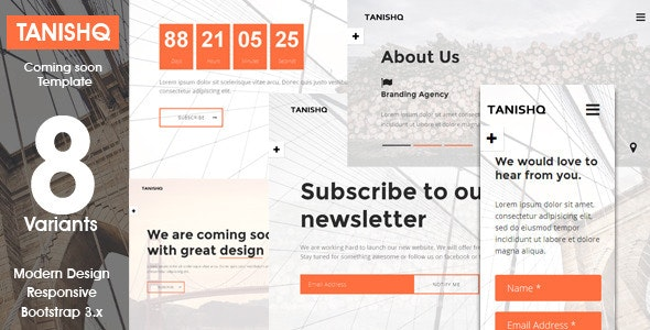 Tanishq - Responsive Coming Soon Template  - Under Construction Specialty Pages