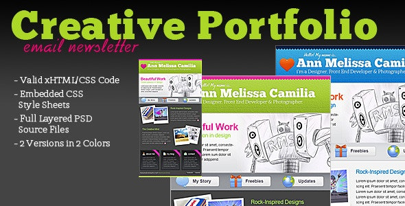 Creative Portfolio HTML Email Template - Newsletters Email Templates