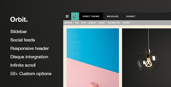Orbit - Responsive Blog And Portfolio Theme - Tumblr Blogging