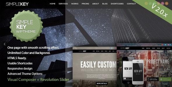 SimpleKey - One Page Portfolio WordPress Theme - Portfolio Creative