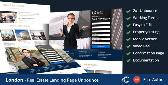 London - Real Estate Landing Page - Unbounce Landing Pages Marketing