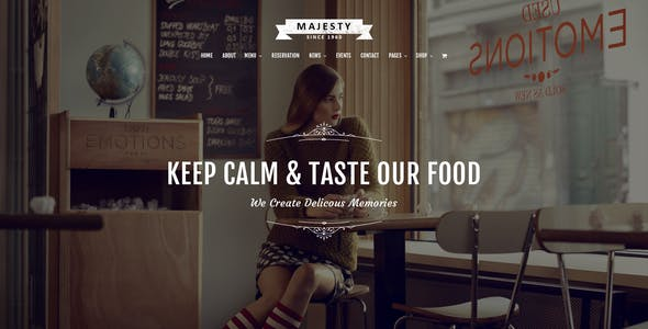 Majesty - Awesome Restaurant PSD Template