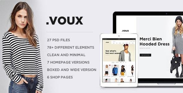 .VOUX E-commerce PSD - Shopping Retail