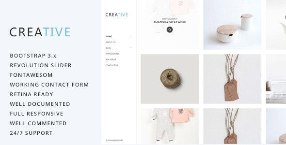 Creative - Photography HTML5 Template - Photography Creative
