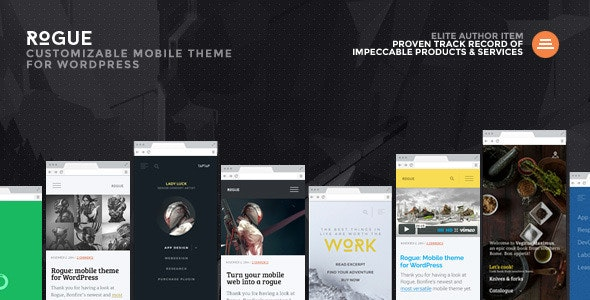 Rogue: Customizable Mobile Theme for WordPress - Mobile WordPress