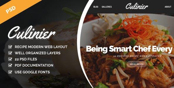 Culinier - Modern Food Recipe PSD Template