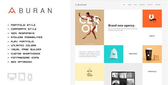 BURAN - Smart Portfolio and Business Theme - Portfolio Creative