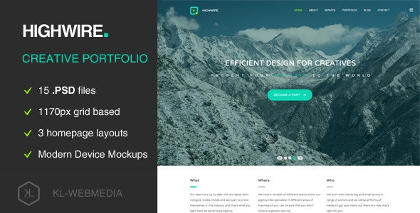 Highwire - PSD Template - Miscellaneous PSD Templates