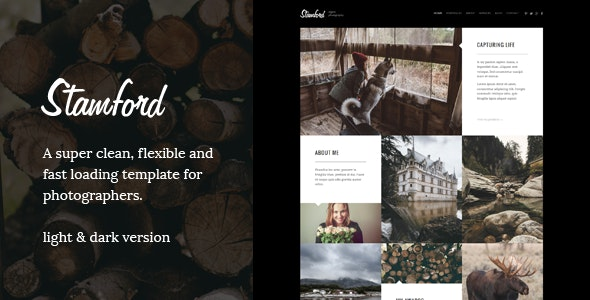 Stamford – HTML5 Photography Portfolio & Blog - Experimental Creative