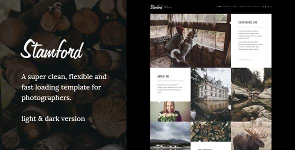 Stamford – HTML5 Photography Portfolio & Blog - Experimental Creative