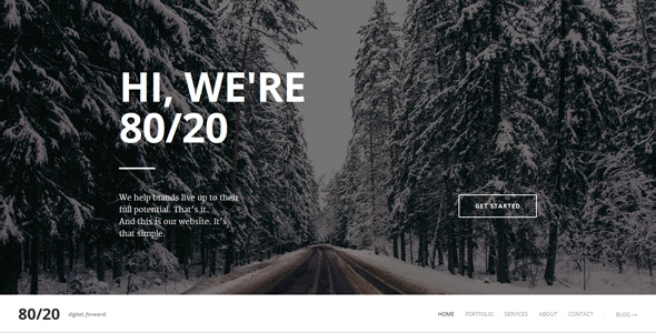 80/20 - Parallax One Page Drupal Theme - Creative Drupal