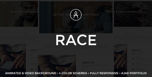 Race - Creative One Page Template - Portfolio Creative