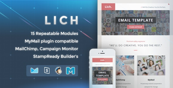 Lich - Responsive Email Template - Newsletters Email Templates