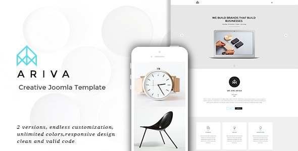 Ariva | Creative Responsive Parallax Joomla Template - Portfolio Creative
