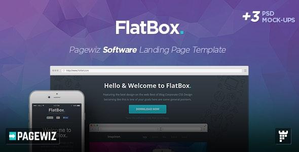 FlatBox - Pagewiz Startup Landing Page Template - Pagewiz Marketing
