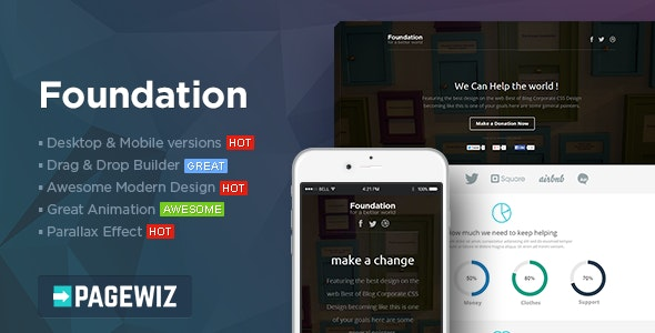 Foundation - Pagewiz Nonprofit Landing page - Pagewiz Marketing