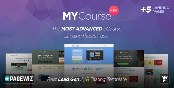 MYCourse - Pagewiz eCourse Landing Pages Pack - Pagewiz Marketing