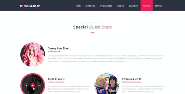 The Bebop Anime and Comic Convention PSD Template