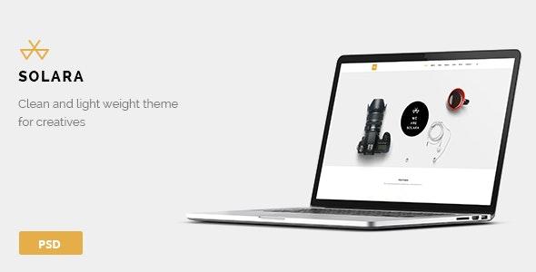 Solara - One Page PSD Template - Creative Photoshop