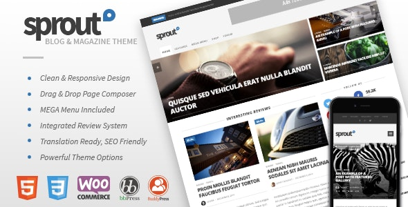 Sprout - Clean Blog/News/Magazine Responsive Theme - News / Editorial Blog / Magazine