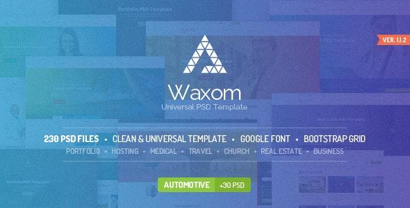 Waxom - Clean & Universal PSD Template - Creative Photoshop