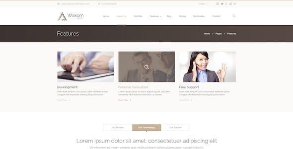 Waxom - Clean & Universal PSD Template
