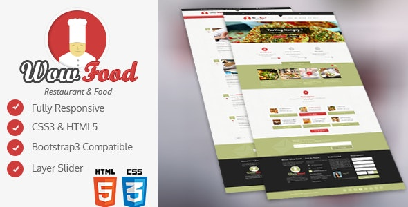 WOW Food HTML Template - Food Retail