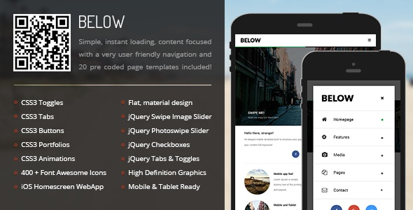 Below Mobile - Mobile Site Templates