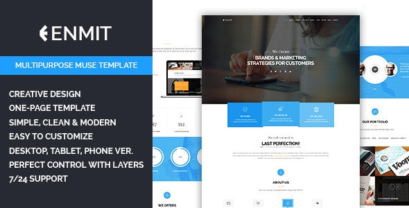 Enmit - Multipurpose Muse Template - Corporate Muse Templates