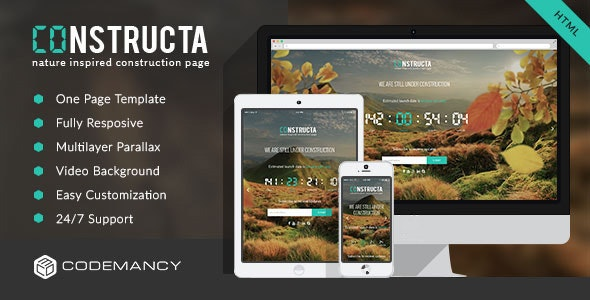 Constructa - Multilayer Parallax Construction Page - Under Construction Specialty Pages