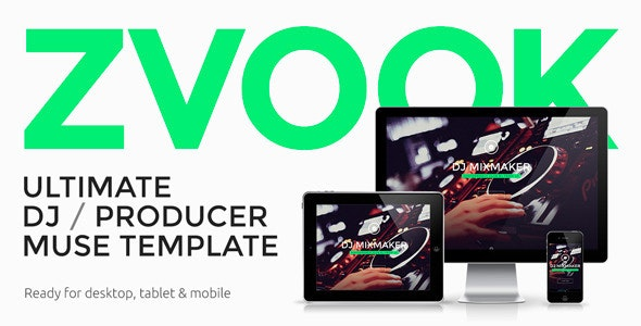 Zvook -  Ultimate DJ / Producer / Artist Personal Site Muse Template - Personal Muse Templates