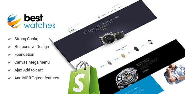 Watches - Responsive Shopify Template - Shopping Shopify