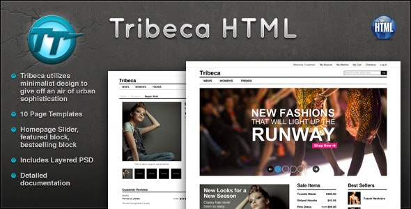 Tribeca eCommerce HTML Template - Retail Site Templates